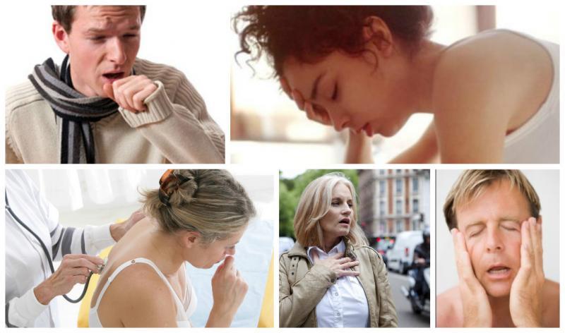 симптомы рака легких